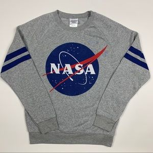 NASA Big Logo Pullover Long Sleeve Sweatshirt